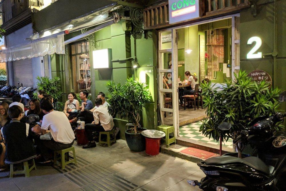Cong Caphe Coffee Shop, Ho Chi Minh City, Vietnam