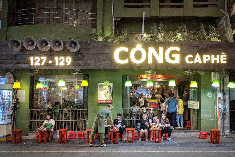 Cong Caphe on Bui Vien Street, Ho Chi Minh City, Vietnam