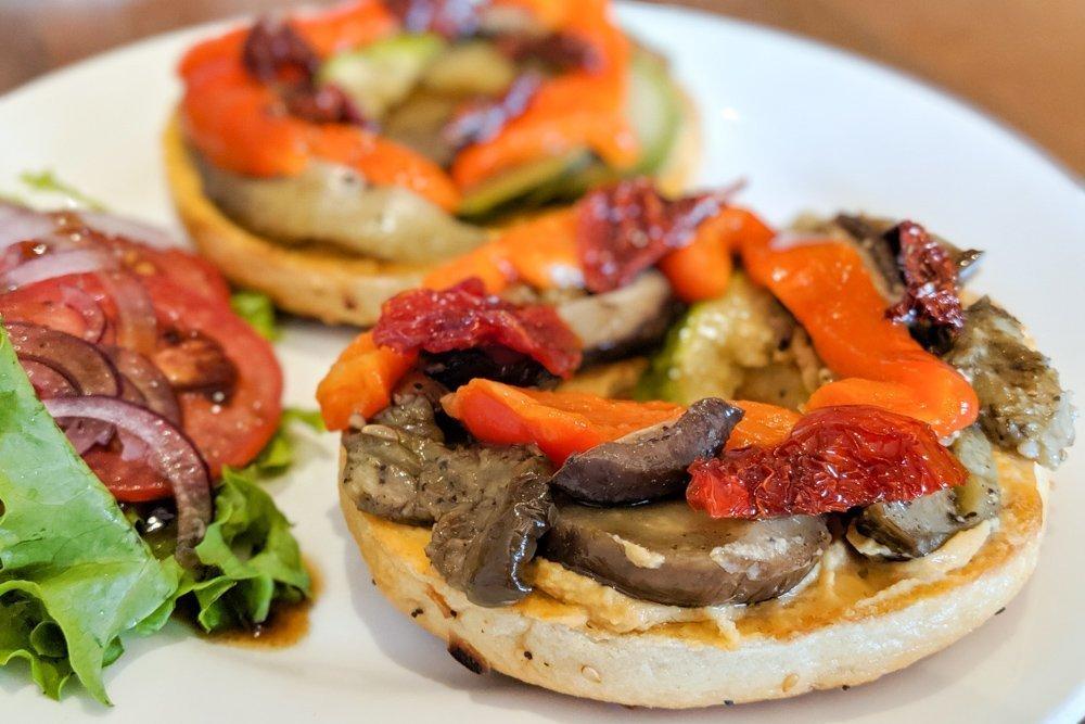 Saigon Bagel Review, Ho Chi Minh City, Vietnam: Hummus & Roast Veggies