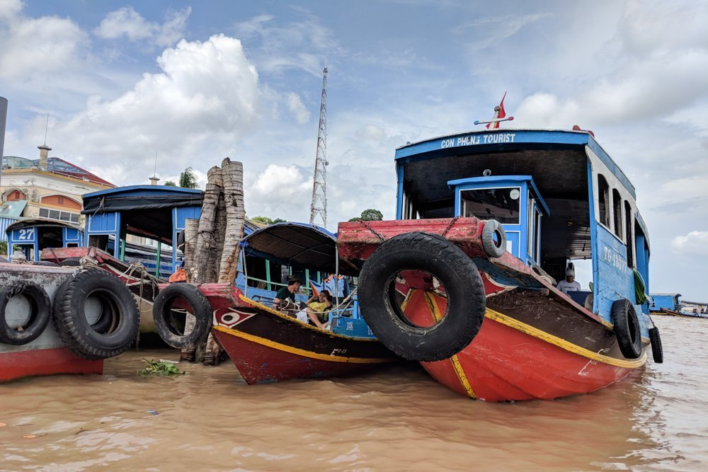 Boats in the Mekong Delta, Vietnam