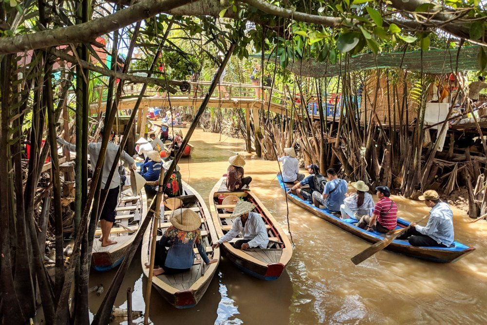 Small Boats in the Mekong Delta, Vietnam
