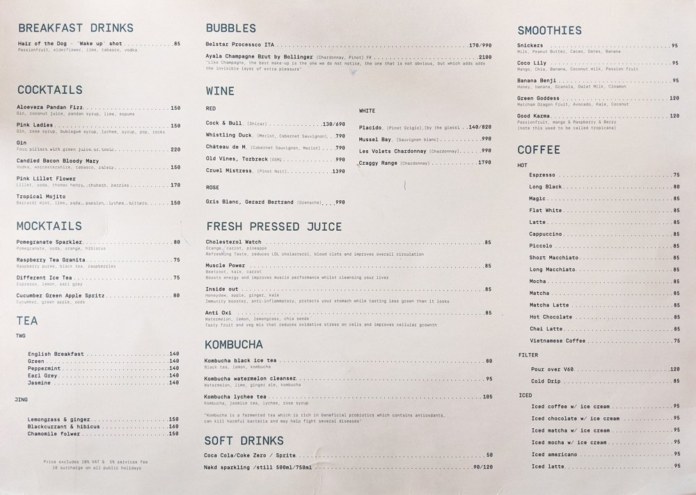 Godmother Bake & Brunch: Menu Page 2 - Saigon, Vietnam