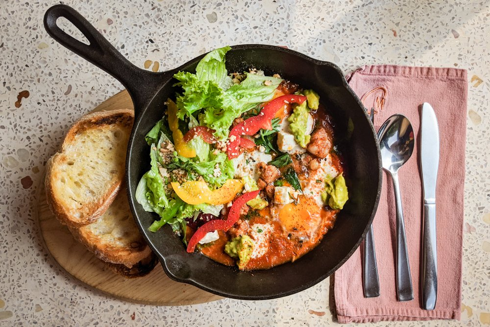 Cafe Marcel: Saigon Breakfast/Brunch - Spicy Shakshuka