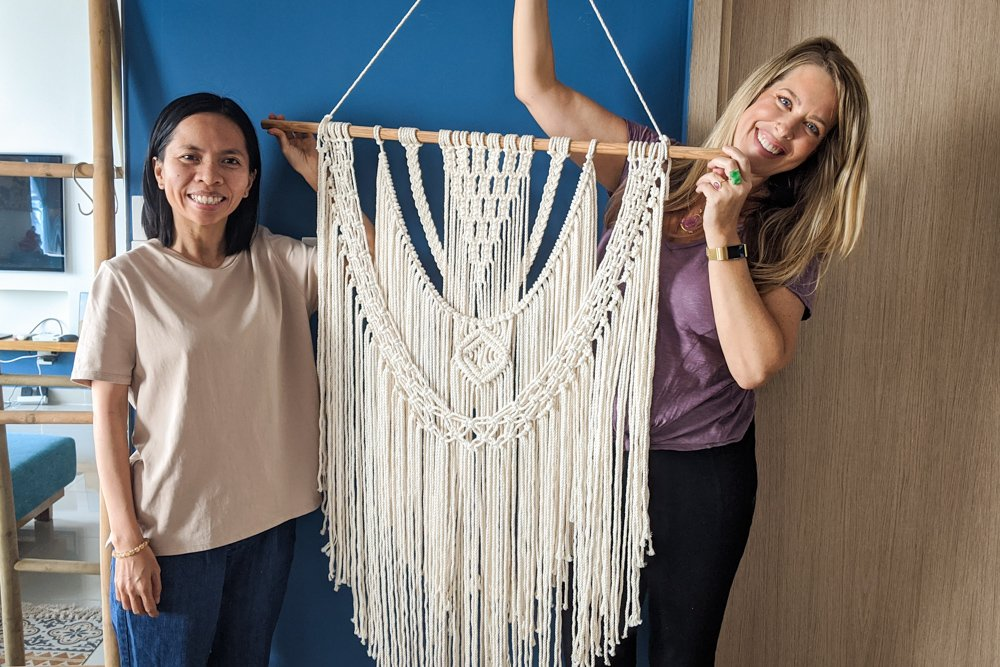 Macrame Class in Saigon Vietnam with Tran Hoa My