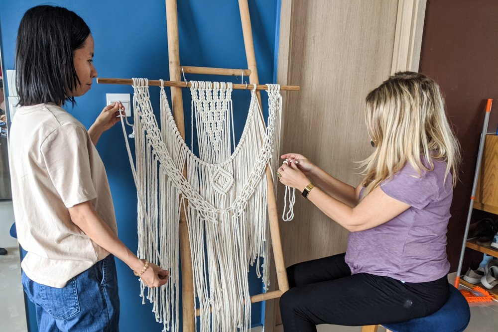 Saigon Macrame Workshop with Tran Hoa My