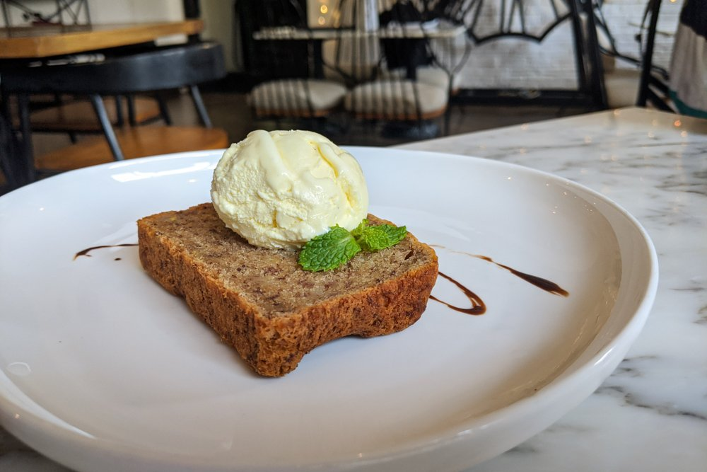 The Loft Cafe, Saigon, Vietnam - Banana Bread & Vanilla Gelato