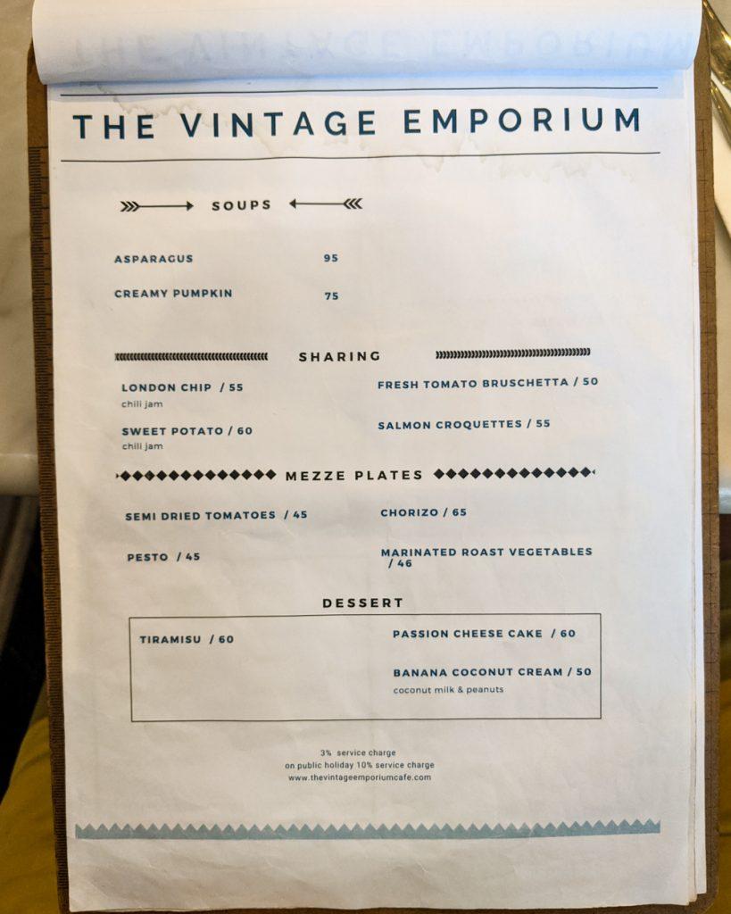 Vintage Emporium Menu - Page 3